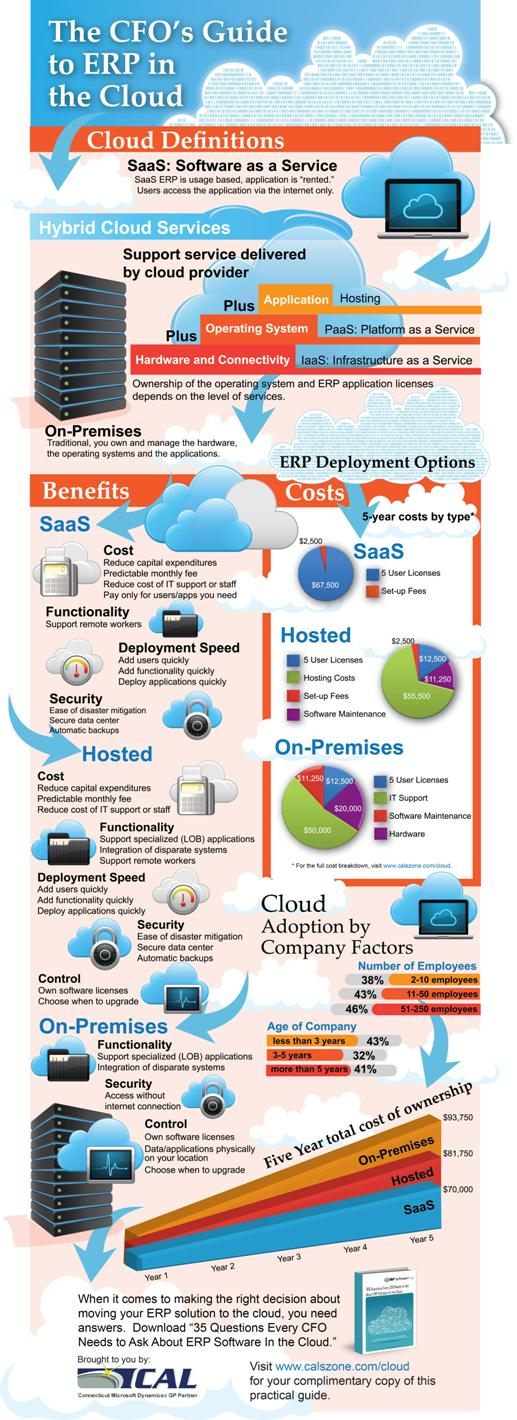 ERP in the Cloud: Infographic
