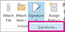 how to add automatic signature in outlook 365