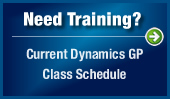 Need Training? Current Dynamics GP Class Schedule
