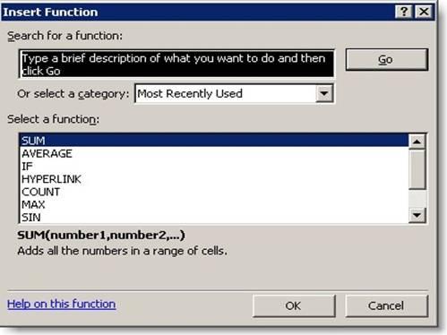 Excel Keyboard Shortcuts