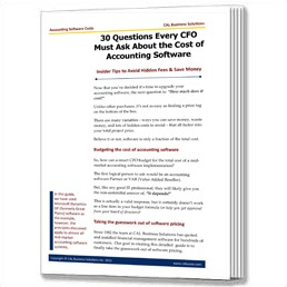 30 Questions Every CFO Must Ask About the Cost of Accounting Software