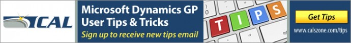 Microsoft Dynamics GP Tips