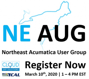 Northeast Acumatica User Group Meeting