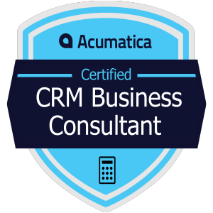 Acumatica Certified CRM Business Consultant