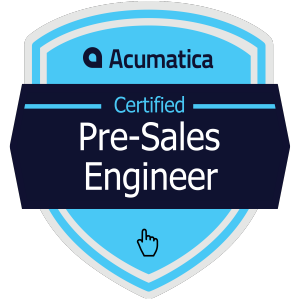 Acumatica Certified Pre-Sales Engineer