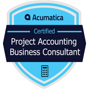 Acumatica Certified Project Accounting Business Consultant