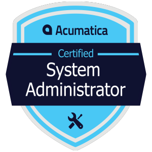 Acumatica Certified System Administrator