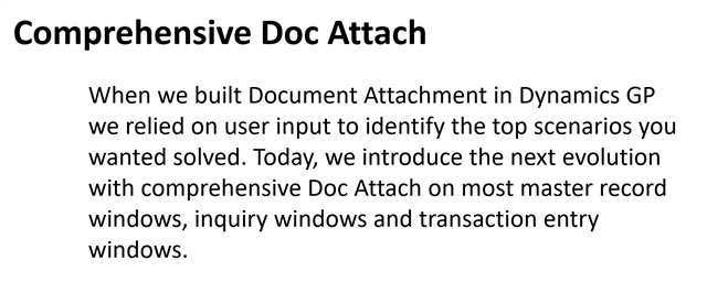 Comprehensive Doc Attach