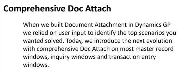 Comprehensive Doc Attach
