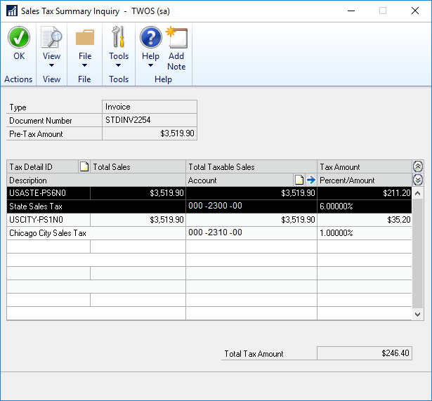 Dynamics GP 2016 R2 Feature of the Day-Display Tax Percent for Historical Transactions