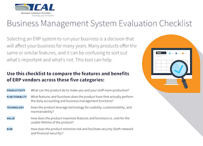ERP Evaluation Checklist