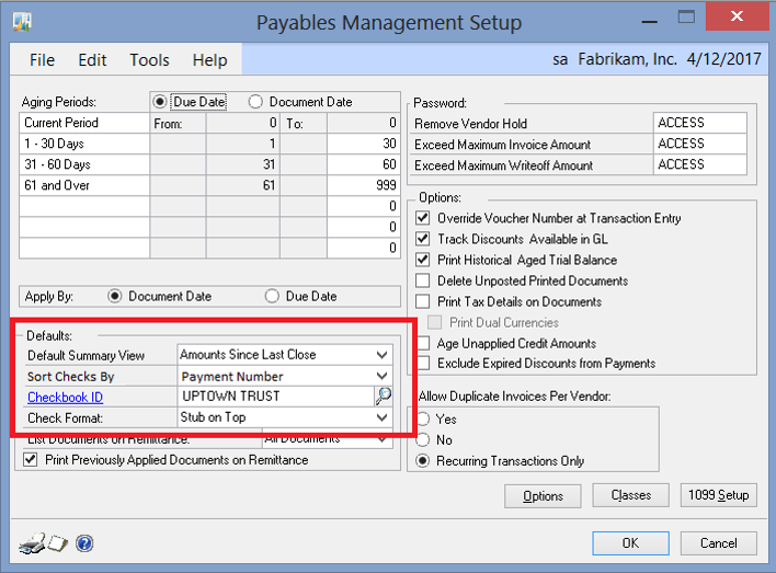 microsoft dynamics gp 2013 r2 feature of the day default sort