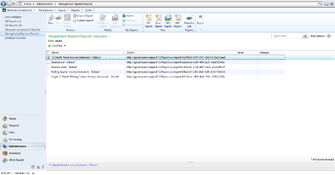 Microsoft Dynamics GP 2015 Feature of the Day – Management Reporter Integration