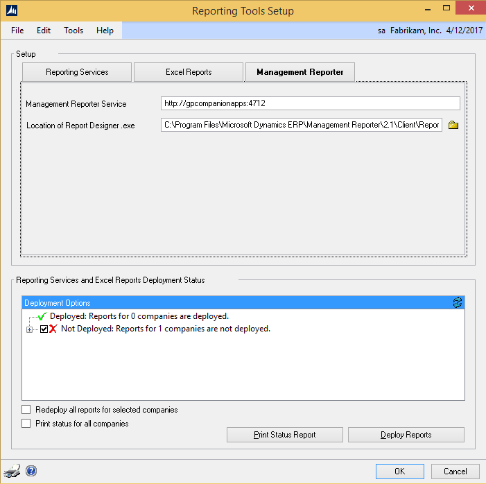 Microsoft Dynamics GP 2015 Feature of the Day – Management Reporter Integration Setup