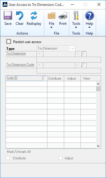 Microsoft Dynamics GP 2016 Feature of the Day – Analytical Accounting User Access Settings