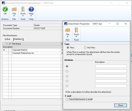 Microsoft Dynamics GP 2016 Feature of the Day – Manage-Edit Attachments that Flow to Transactions