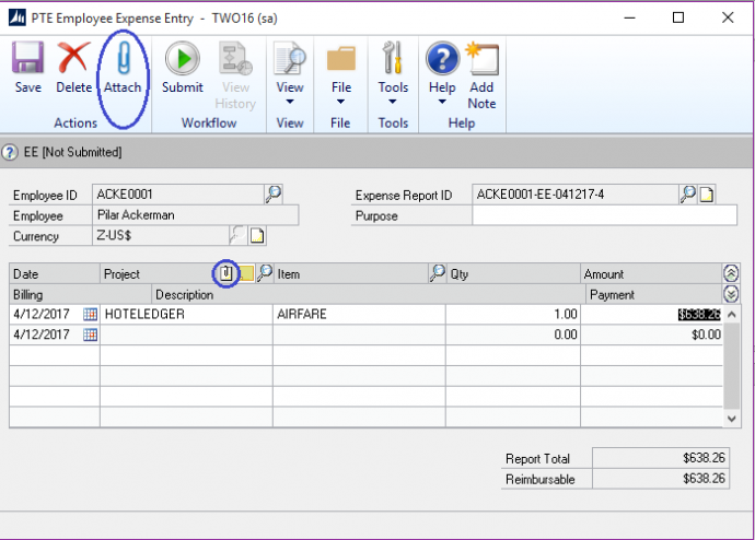 Microsoft Dynamics GP 2016 Feature of the Day – Project Expenses – Document Attachments