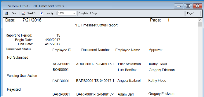 Microsoft Dynamics GP 2016 R2 Feature of the Day - Project Accounting Timesheet Status Report