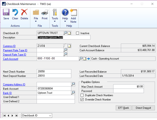 microsoft dynamics gp 2018 r2 duplicate check numbers option extended