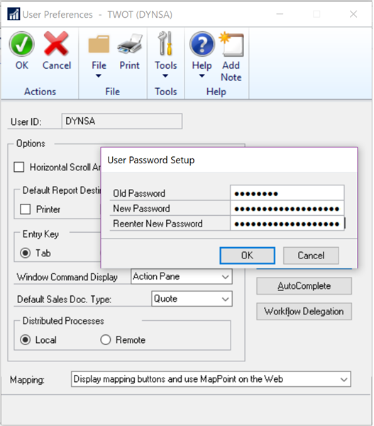 Microsoft Dynamics GP 2018 R2 Feature of the Day-Increase Dynamics GP Password Maximum Length and a Password Expiration Notification 1