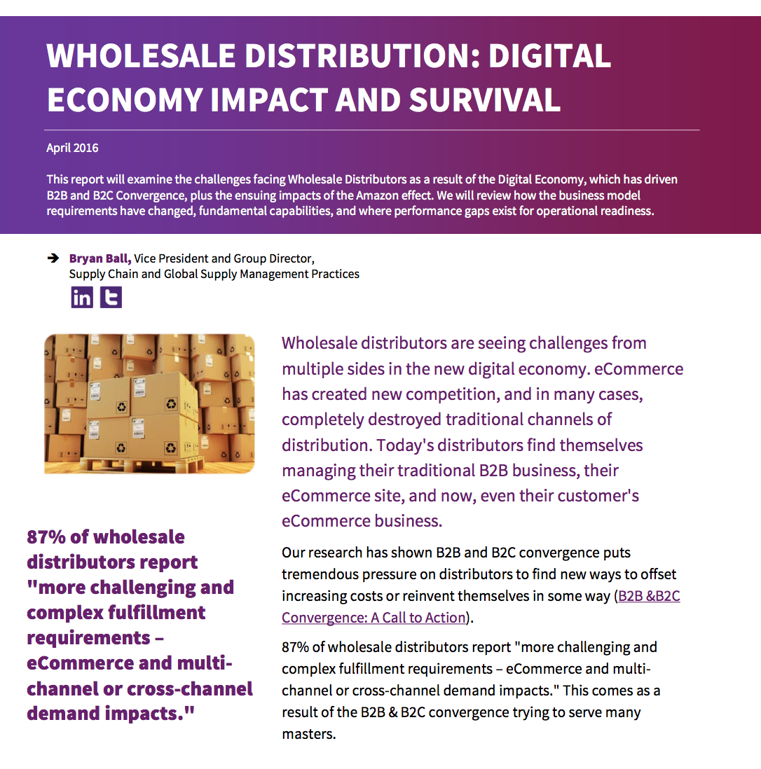 Wholesale Distribution: Digital Economy Impact and Survival